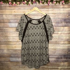 Free People Oversized Brown Top